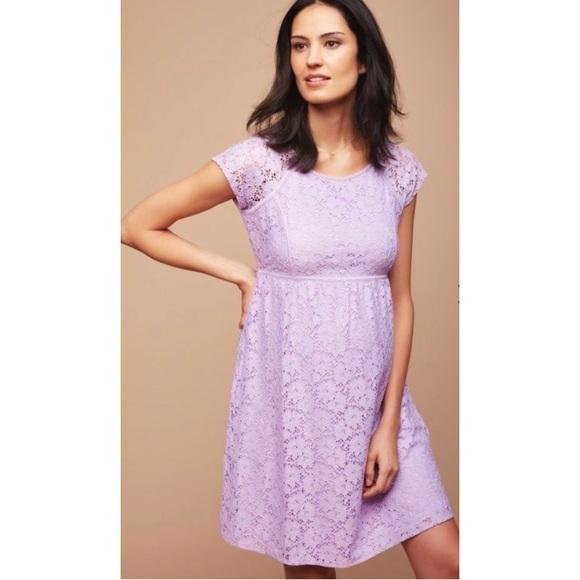 eb69b9f40b6ce Motherhood Maternity Dresses | Purple Lace Zip Back Dress By | Poshmark